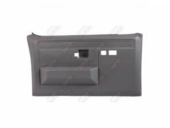 PANEL SET, Front Door, Presidio Gray, w/ power windows and power locks, does not include armrest pads or trim package (see p/n K-16155D-81 for pads, p/n K-DPRM-X / K-DPRM-Y for trim package), ABS-plastic, replacement-style repro