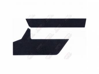 TRIM PACKAGE, CLOTH INSERTS, SHADOW BLUE, FOR USE