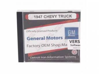 SHOP MANUAL ON CD, 1947 Chevrolet Truck, Incl 1947 Chevy Truck shop manual, 1938-1968 and 1949-1958 Chevrolet parts manuals