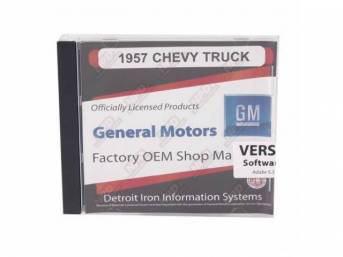 SHOP MANUAL ON CD, 1957 Chevrolet Truck, Incl 1957 Chevy Truck shop manual, 1938-1968, 1954-1965 and 1949-1958 Chevrolet parts manuals