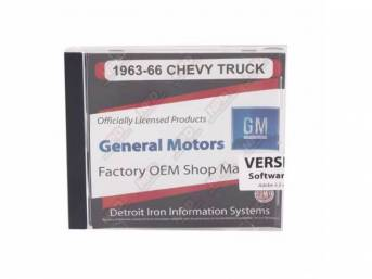 SHOP MANUAL ON CD, 1963-1966 Chevrolet Truck, Incl 1963 Chevy Truck shop manual (w/ 1964-1966 supplements), 1938-1968 and 1954-1965 Chevrolet parts manuals