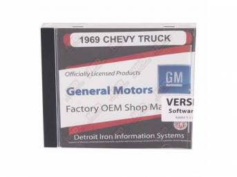 SHOP MANUAL ON CD, 1969 Chevrolet Truck, Incl 1969 Chevy Truck shop and overhaul manuals
