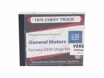 SHOP MANUAL ON CD, 1970 Chevrolet Truck, Incl 1970 Chevy Truck shop and overhaul manuals