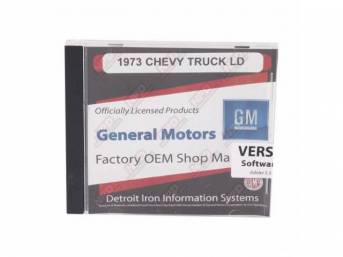 SHOP MANUAL ON CD, 1973-1974 Chevrolet Truck, Incl 1973 and 1974 Chevy Truck chassis service manuals