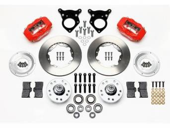 1987-93 WILWOOD Forged Dynalite Pro Series Front Brake Kit 4 Piston (Red Calipers) Standard Rotors