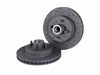 Talon Cross Drilled & Slotted Front Rotors by