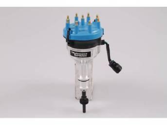 Distributor, Performance Distributor, Blue Cap, Hot Forged Design,