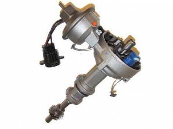 Distributor Assy, Rebuilt, W/ Single Vacuum Diaphragm Assy, W/ Steel Distributor Gear, Replacement Style