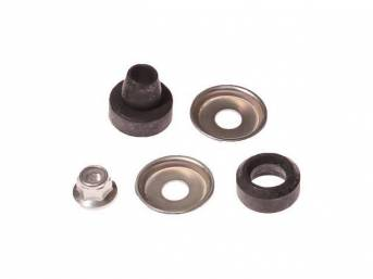 Mounting Kit, Rear Shock Absorber, Incl (1) Shock Nut, (2) Washers, (1) Upper Bushings, (1) Lower Bushing, Designed To Mount One Shock Or One Side, See Note Below For Proper Fitment