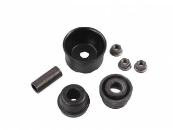 Mounting Kit, Shock Upper, Repro, Incl Upper Strut Bushing And Top Boot, Does Not Incl Upper Strut Bracket Or Full Boot Assy