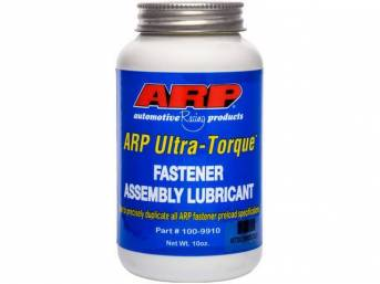 Assembly Lubricant, Ultra Torque, By Arp, 10 Oz. Bottle, Designed To Reduce Tension Pre Load Scatter And Eliminate The Need To Cycle High Performance Engine Fasteners Before Final Installation