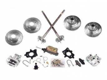 Disc Conversion Kit, Front And Rear, 5 Lug,