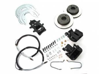 SSBC USA Rear Disc Brake Conversion Kit 79-86 (STD Rotors/Black Calipers)