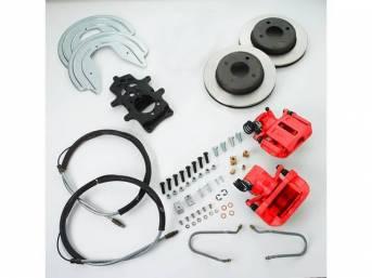 SSBC USA Rear Disc Brake Conversion Kit 79-86 (STD Rotors/Red Calipers)