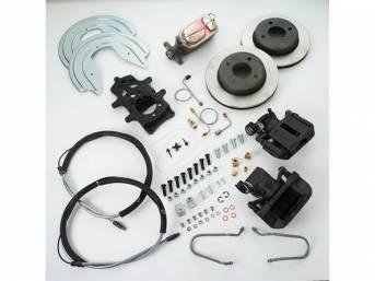SSBC USA Rear Disc Brake Conversion Kit 87-92 (STD Rotors/Black Calipers)