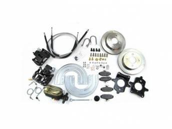 SSBC USA Rear Disc Brake Conversion Kit 1993 (STD Rotors/Black Calipers)