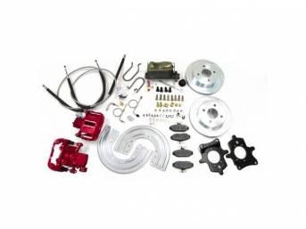 SSBC USA Rear Disc Brake Conversion Kit 1993 (Upgrade Rotors/Red Calipers)