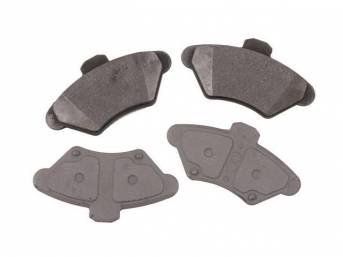 Pad Set, Front Disc, Semi Metallic, Repro