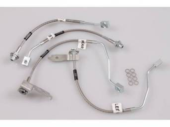 Brake Hose Set, Braided Stainless, Russell Performance, 4