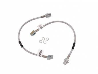 Brake Hose Set, Braided Stainless, Russell Performance, 2