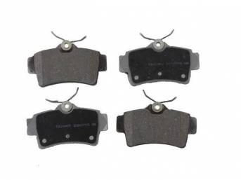 Pad Set, Rear Disc, Semi Metallic, Repro