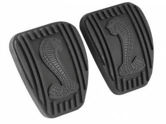 Pads, Brake And Clutch Pedal, Pair, W/ Cobra