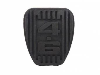 Pad, Brake Pedal, Repro, W/ *4.6* Logo In