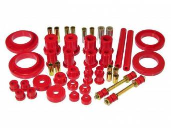 Total Kit, Prothane, Red, These Kits Are Made Of A Durable Urethane Construction, They Are Designed To Work With Factory Components And Hardware, They Drastically Improve Handling And Steering Response