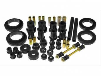 Total Kit, Prothane, Black, These Kits Are Made Of A Durable Urethane Construction, They Are Designed To Work With Factory Components And Hardware, They Drastically Improve Handling And Steering Response