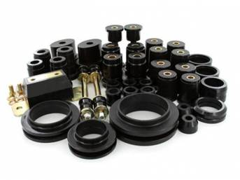Total Kit, Prothane, Black, Does Not Include Sway Bar Bushings,  These Kit Are Made Of A Durable Urethane Construction, They Are Designed To Work With Factory Components And Hardware, They Drastically Improve Handling And Steering Response