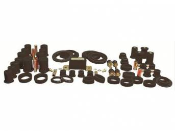 Total Kit, Prothane, Black, Does Not Include Sway Bar Bushings, These Kits Are Made Of A Durable Urethane Construction, They Are Designed To Work With Factory Components And Hardware, They Drastically Improve Handling And Steering Response