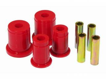 Bushing Kit, Front Lower Control Arm, Prothane, Red,
