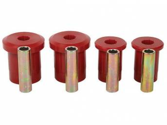 Bushing Kit, Front Lower Control Arm, Prothane, Red, Does Not Include Shells, These Bushings Are Designed To Be A Performance Replacement Part