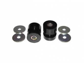Bushing Set, Irs Differential, Rear, Black, Prothane, Incl Bushings, Washers, Sleeve Inserts, Does Both Side