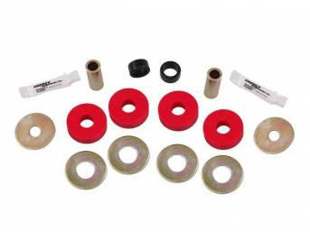 Bushing Set, Irs Differential, Rear, Steeda, Black, Incl