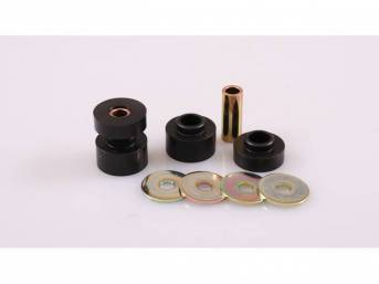 Bushing Set, Irs Differential, Front, Black, Prothane, Incl Bushings, Washers, Sleeve Inserts, Does Both Side
