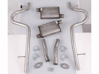 Exhaust Kit, Cat Back, Pypes Performance, 2 1/2 Inch Pipes, Incl All Stainless Steel Inlet And Outlet Pipes And  Violator Performance Mufflers
