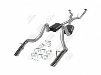Exhaust System American Thunder Flowmaster 3 Inch Pipes