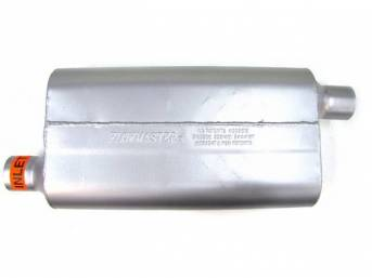 Muffler, Flowmaster, Delta Flow 50 Series, Aluminized Offset Design, W/ 2 1/4 Inch Inlet And Outlet, Designed For Moderate Tone Levels