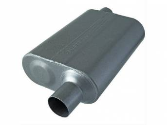 Muffler, Flowmaster, 40 Series, 409s Stainless Steel, Offset