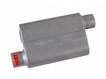 Muffler, Flowmaster, Delta Flow 40 Series, Aluminized Offset