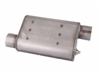 Muffler, Bbk Performance, Vari Tune, Stainless Steel, Offset Design, W/ 3 Inch Inlet And Outlet, Fully Adjustable Sound And Flow