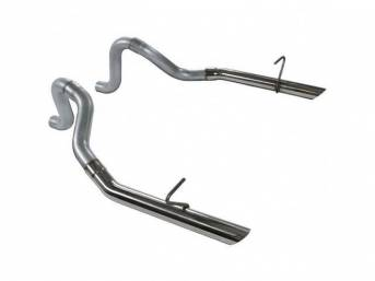 Tailpipes, Prebent, Factory Style, Flowmaster, Pair, 409 Stainless