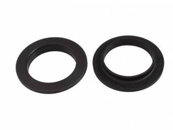 Insulators, Front Coil Spring, Prothane, Black, Incl Uppers Only