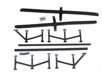 Chassis Brace System, Fit, Stifflers, Black Powder Coated