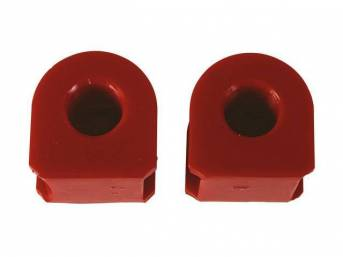 Insulators, Front Sway Bar, W/ 7/8 Inch Bar, Prothane, Red, These Are Performance Urethane Bushings. Must Reuse Your Factory Brackets