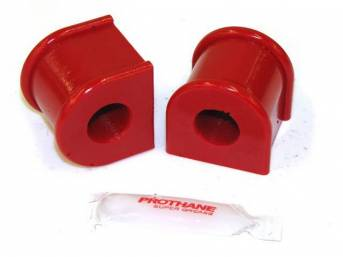 Insulators, Front Sway Bar, W/ 1 1/4 Inch Bar, Prothane, Red, These Are Performance Urethane Bushings. Must Reuse Your Factory Brackets