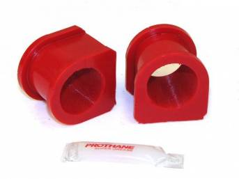 Insulators, Front Sway Bar, W/ 1 3/8 Inch Bar, Prothane, Red, These Are Performance Urethane Bushings. Must Reuse Your Factory Brackets