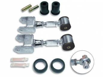Control Arm Set, Rear Upper, Adjustable, Steeda, W/ Bushings Style Mounting, Incl Differential Bushings, Designed To Allow Correct Adjustment Of Pinion Angle