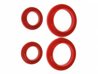 Insulators, Rear Coil Spring, Prothane, Incl Uppers And Lowers